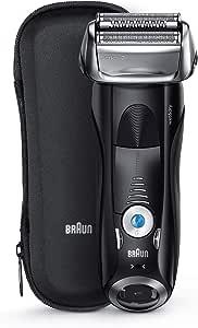 Braun Series 7 7842s - Afeitadora Eléctrica Hombre para Barba, en Seco y Mojado, Recortadora de Precisión Integrada, Máquina de Afeitar Recargable e Inalámbrica con Funda para Viaje, Color Negro: Braun: Amazon.es: