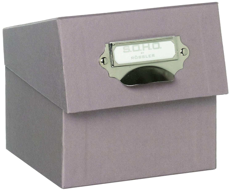 Foto-Aufbewahrung- Sammelkiste mit beschreibbarem Einsteckschild stone R/össler Papier 1325452170 S.O.H.O