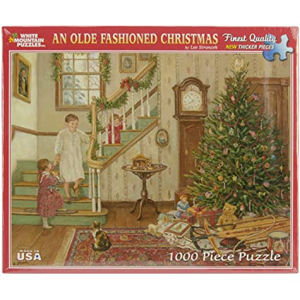Old Fashioned Christmas Pictures.White Mountain Puzzles The Old Fashioned Christmas 1000 Piece Jigsaw Puzzle