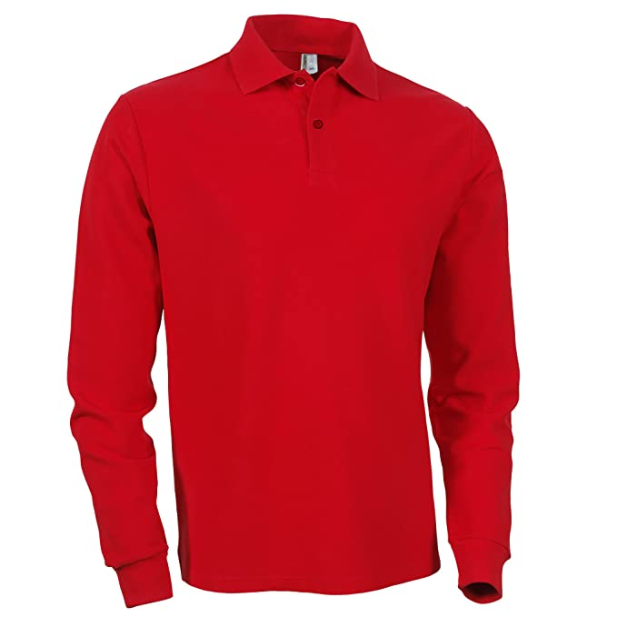 22db996c9d2 Mens Clothing Long Sleeve Plain Polo Shirt