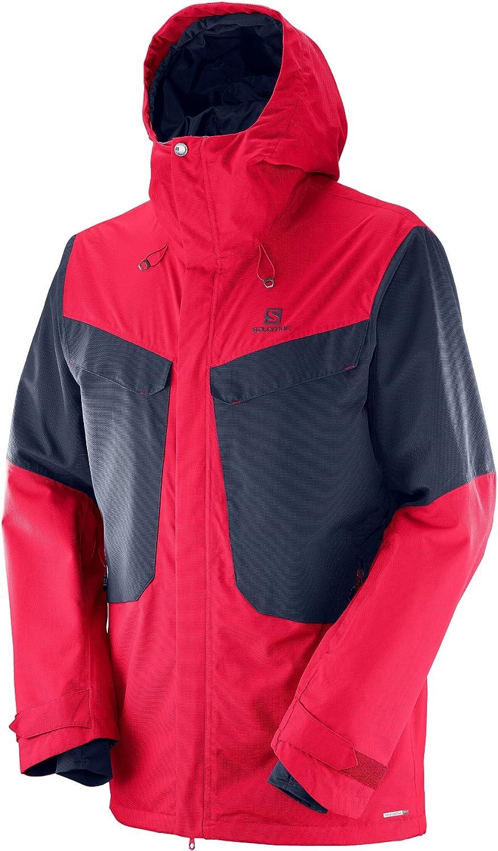 サロモン(SALOMON) スキージャケット QST SNOW 2L メンズ S~Lサイズ Barbados Cherry / Night Sky Large
