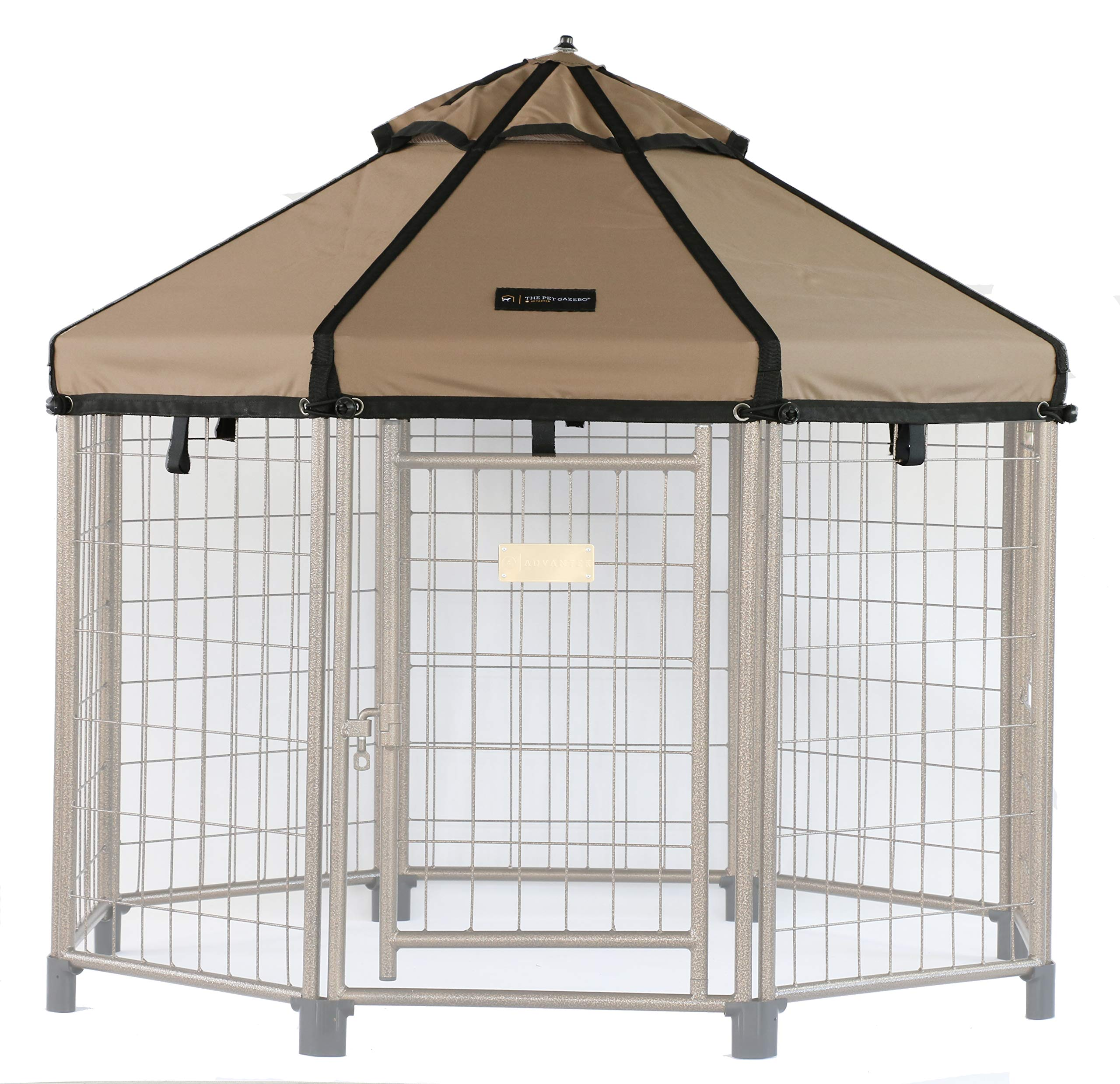 Advantek Pet Gazebo Replacement Cover for 4ft Gazebos, Earth Taupe