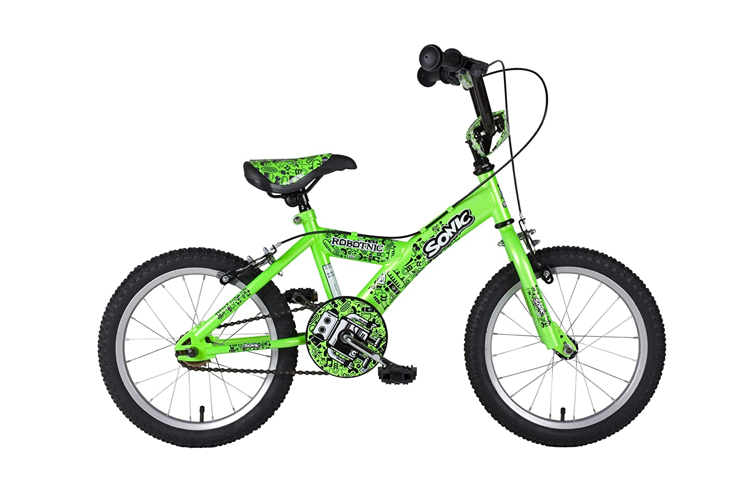 Sonic Robotnic Boys Junior 16 inch wheel Bike - Green: Amazon.co.uk ...