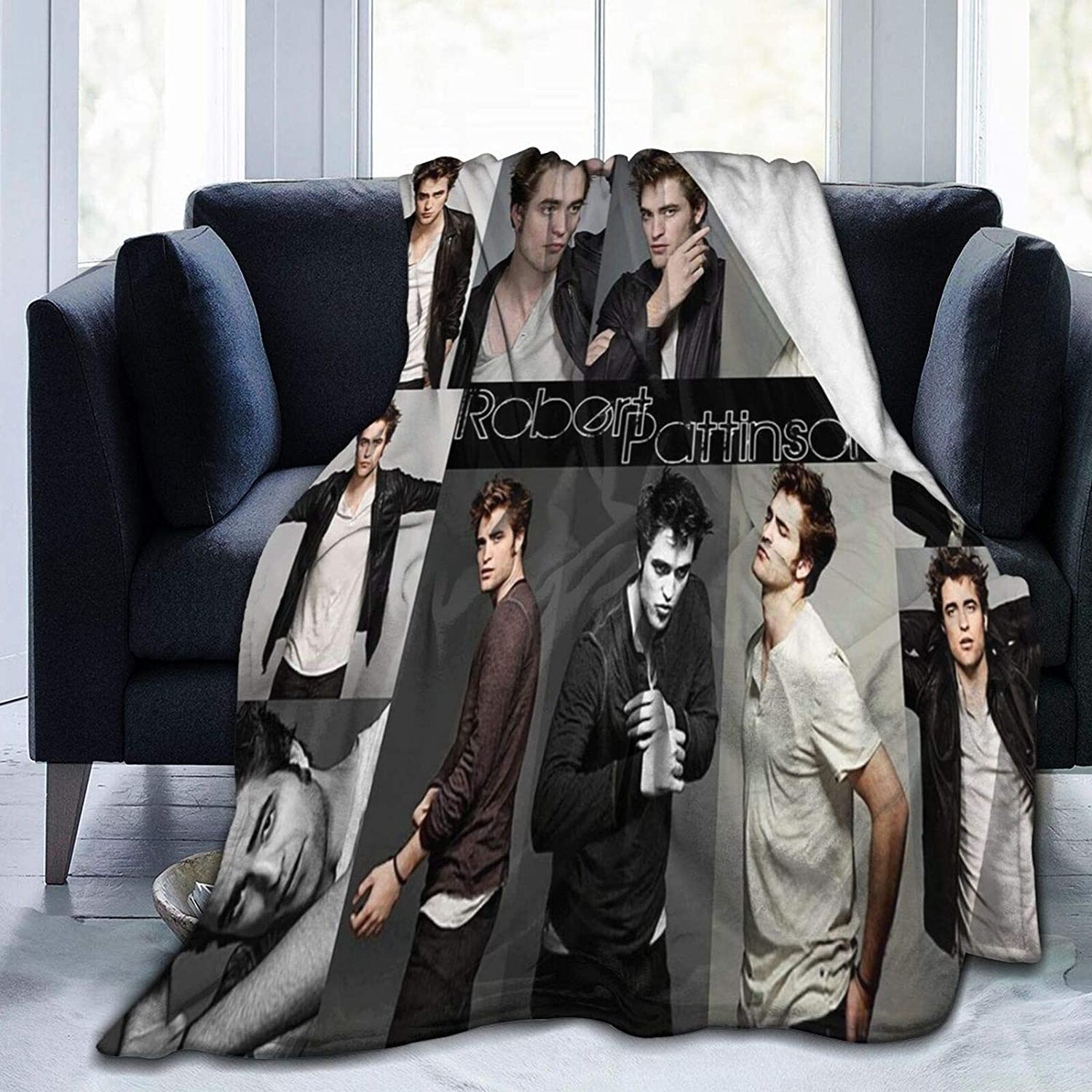 "Wakaltk Robert Pattinson Kids Adults Ultra-Soft Micro Fleece Blanket Throw All Season Fuzzy Lightweight Throw Blankets for Office Company Home Couch Bed Sofa 80"" x60"