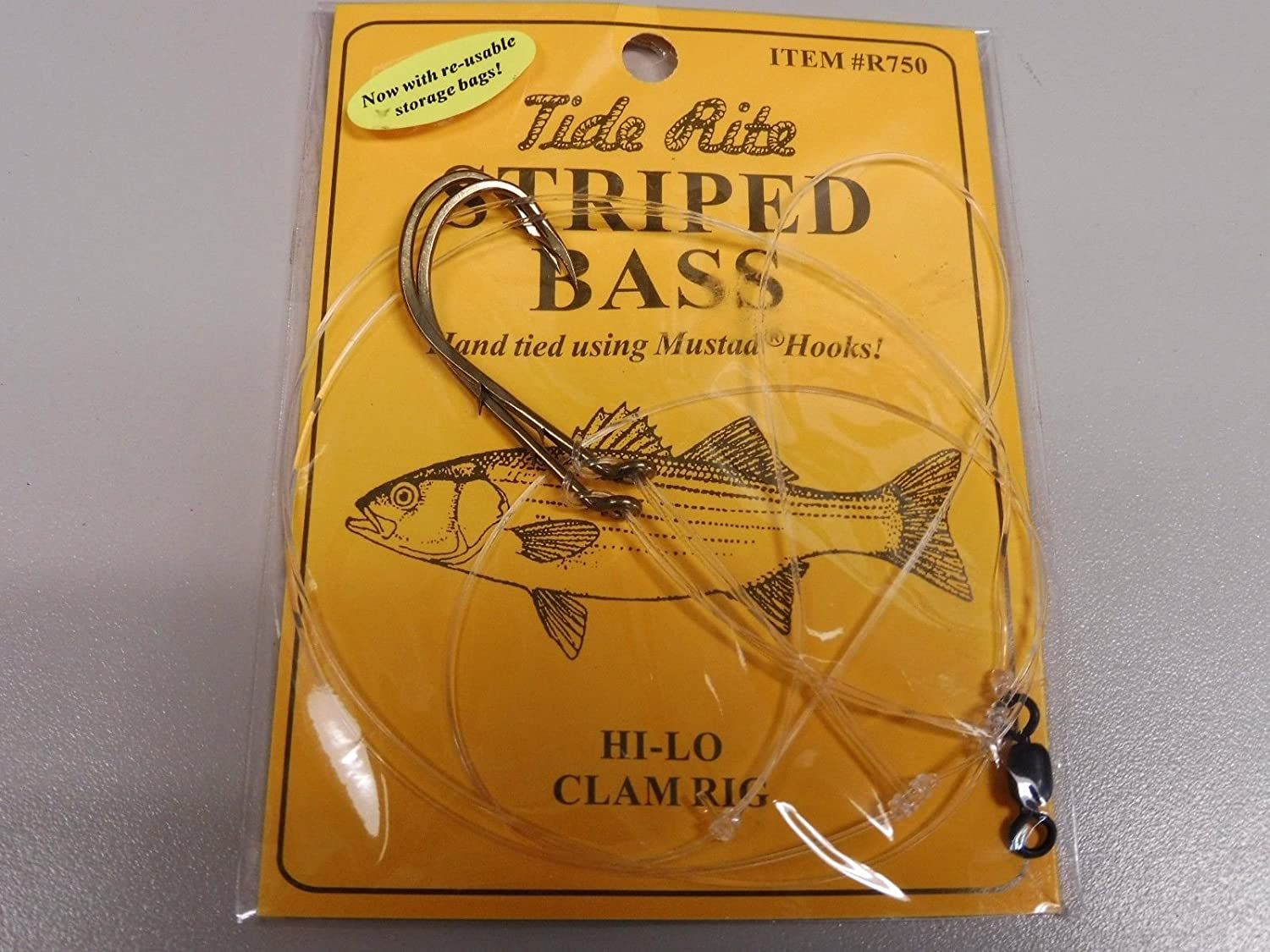 STRIPED BASS RIG TIDE RITE R750 HI-LO CLAM RIG SALTWATER