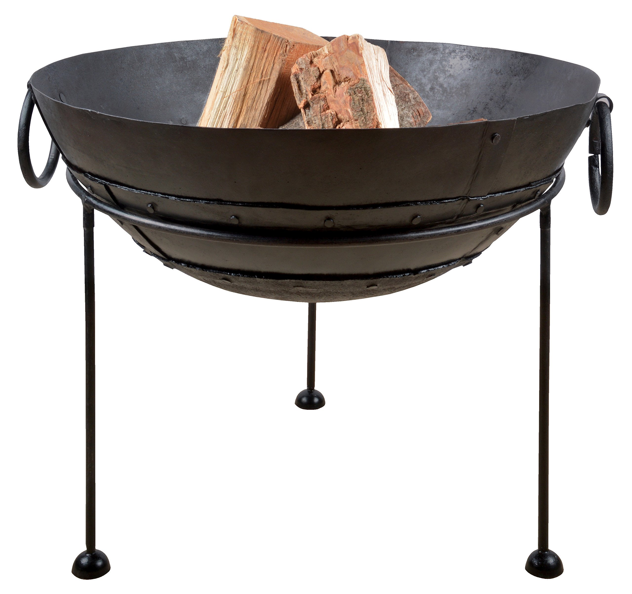 "Esschert Design FF246 Reclaimed Metal Fire Bowl, 60 cm - Medium durable metal fire bowl Black finish Measures approximately 22.89"" L x 19.7"" H x 23.87"" w - patio, fire-pits-outdoor-fireplaces, outdoor-decor - 81AZLb9Ye1L -"