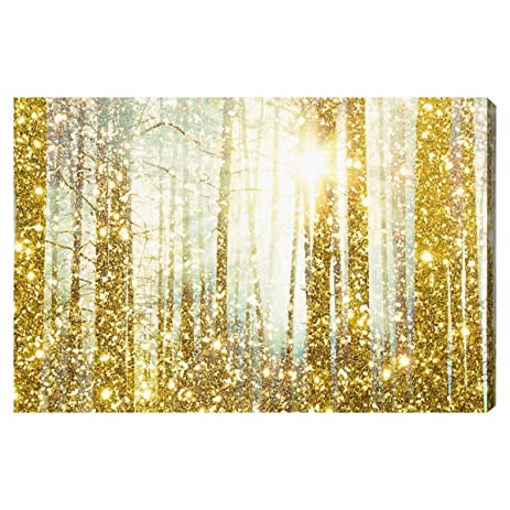 Amazon.com: Magical Forest\' Contemporary Canvas Wall Art Print for ...