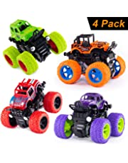 Monster Trucks Inertia Car Toys - Friction Powered Car Toys for Toddlers Kids Birthday Christmas Party Supplies Gift for Boys and Girls (4 Color)