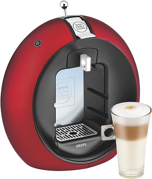 Krups Dolce Gusto Circolo - Máquina de café (Manual, 15 bar, 1.3 L, con bandeja, 1500 W), color rojo/negro: Amazon.es: Hogar