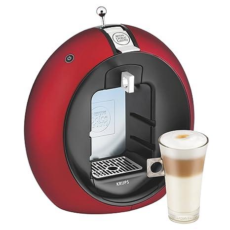 Krups Dolce Gusto Circolo - Máquina de café (Manual, 15 bar, 1.3 L, con bandeja, 1500 W), color rojo/negro