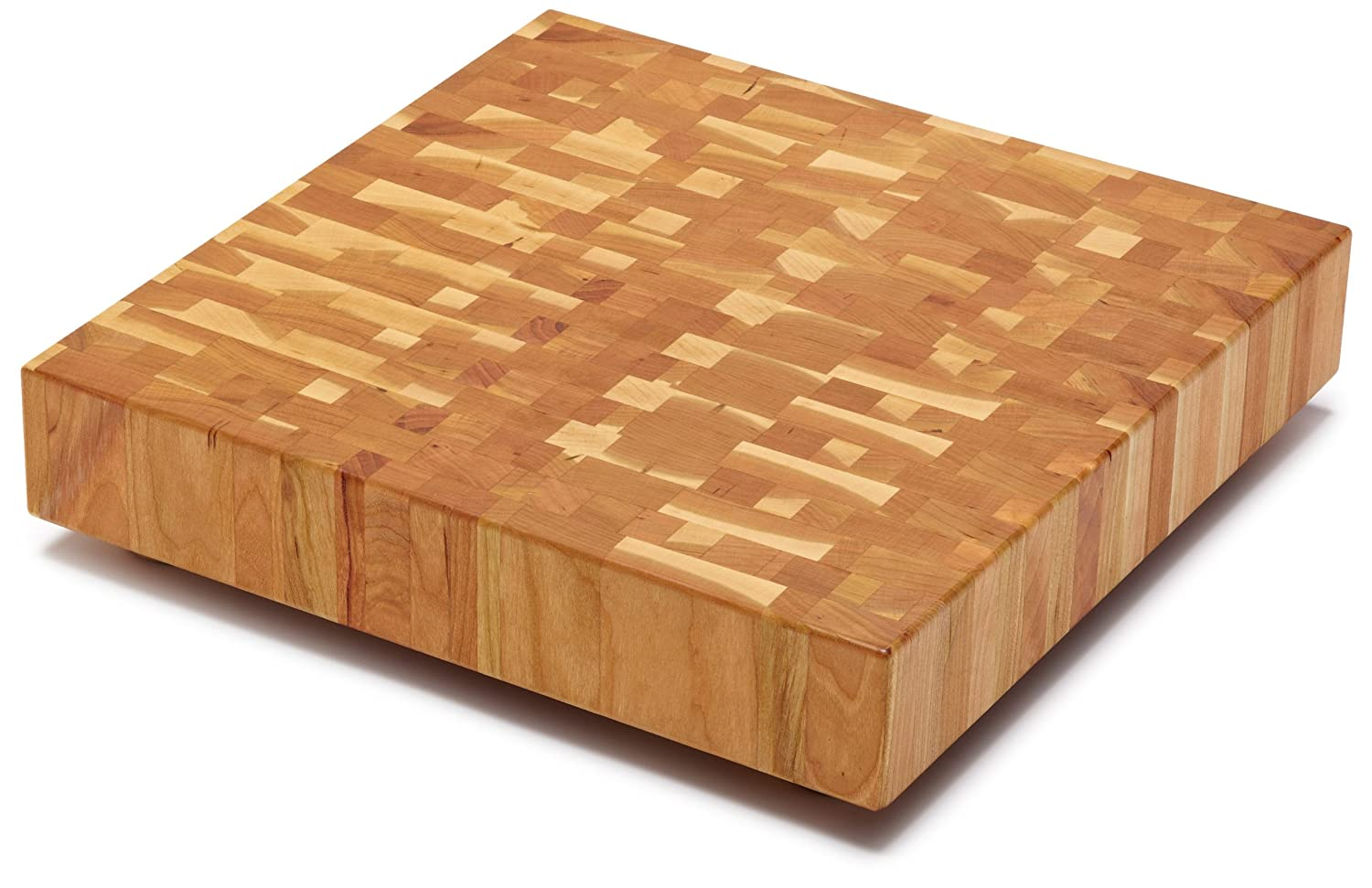 Snow River Cherry End Grain Square Butcher Block, 14-Inch by 14-Inch by 2-1/2-Inch 7V03153