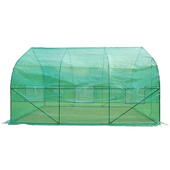 HOMCOM Outsunny - Invernadero caseta 350 x 300 x 200 Jardin terraza Cultivo de Plantas semilla: Amazon.es: Jardín