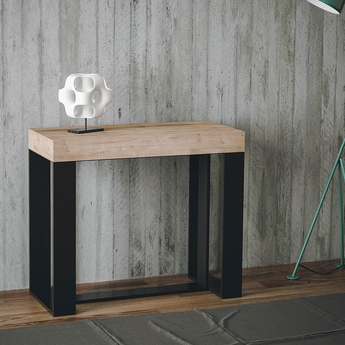 table console extensible latest table console extensible effet bton avec allonges longueur cm. Black Bedroom Furniture Sets. Home Design Ideas