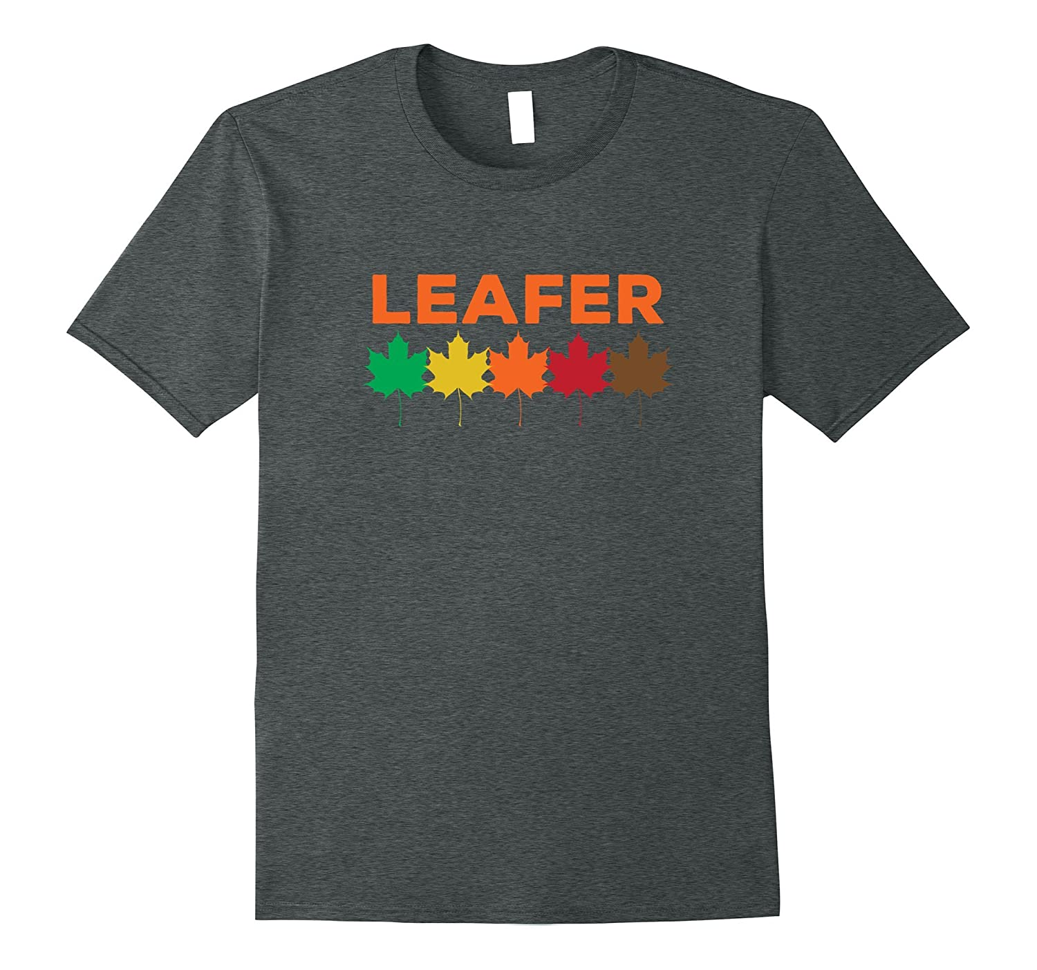Leafer T-Shirt Shirt Tee - Fall Autumn Leaves Color Tour-FL