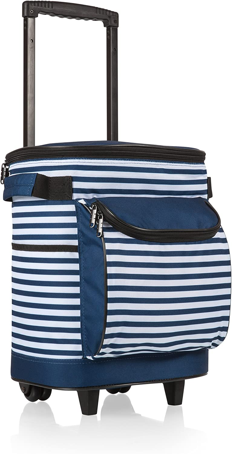 ONIVA - a Picnic Time Brand Insulated Portable Rolling Cooler on Wheels