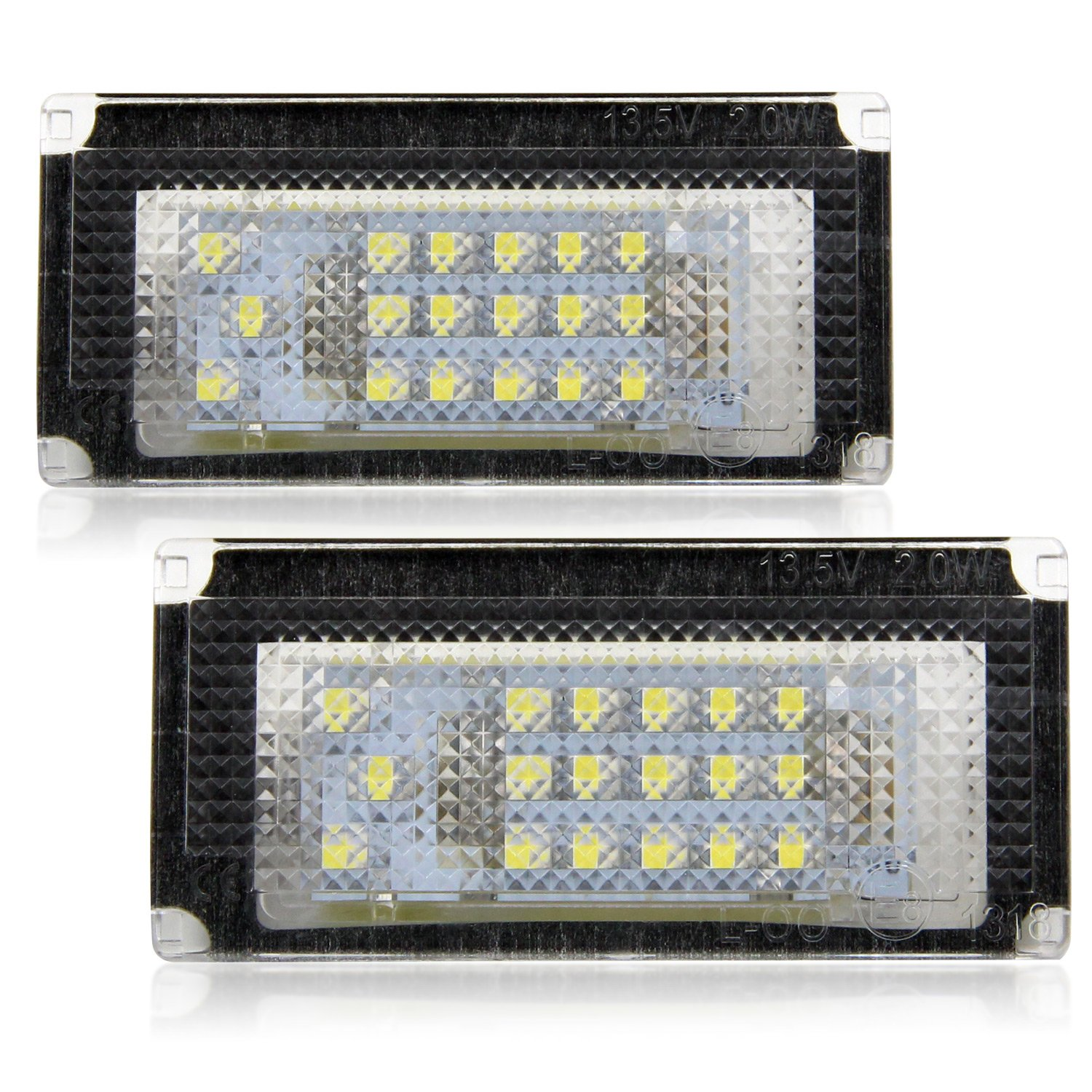 Win Power Error Free 18 SMD LED Number Licence Plate Light Assembly Cool White Lamps Bulb 6000K for Civic//Accord 2 Pieces