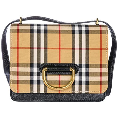 10df6e976123 Burberry women's leather cross-body messenger shoulder bag D-Ring ...