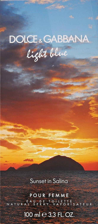 46c24f83 Amazon.com : Dolce & Gabbana Light Blue Sunset in Salina Eau de Toilette,  3.3 Fluid Ounce : Beauty