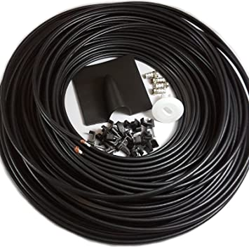 25 m Twin Coaxial Cable antena parabólica WF65 fina instalar Kit – para Sky HD y