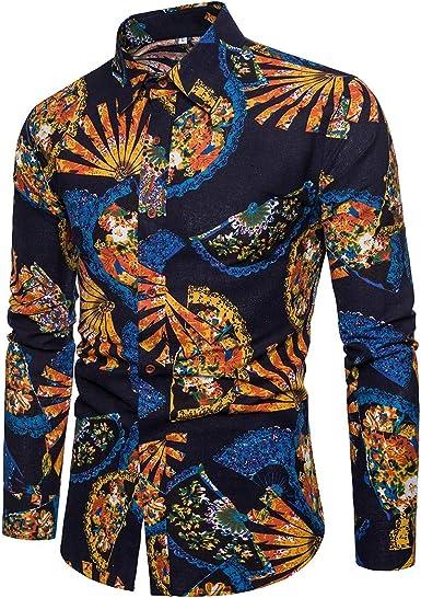 HLDGS - Camisa Informal para Hombre, Manga Larga, diseño ...