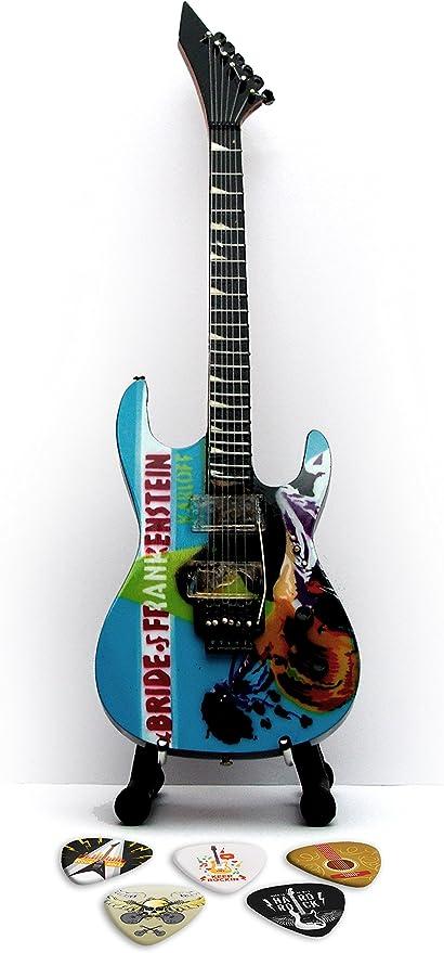 Metallica Frankenstein Réplica en miniatura de guitarra y púas ...
