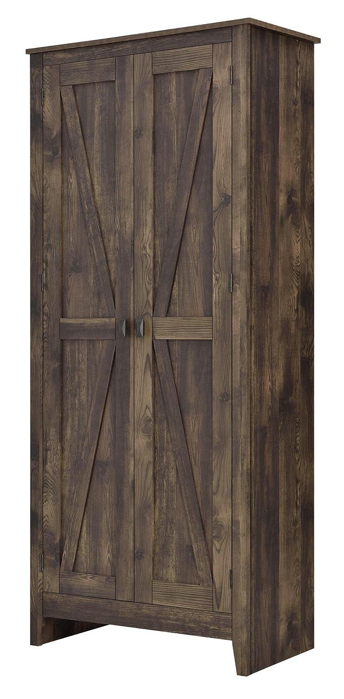 "Ameriwood Home 7532096COM Farmington Wide Storage Cabinet, 31.5"", Rustic"