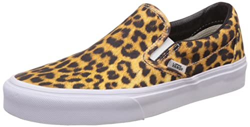 f56aaaad58 Vans Unisex Classic Slip-On (Digi Leopard) Black and True White Sneakers -
