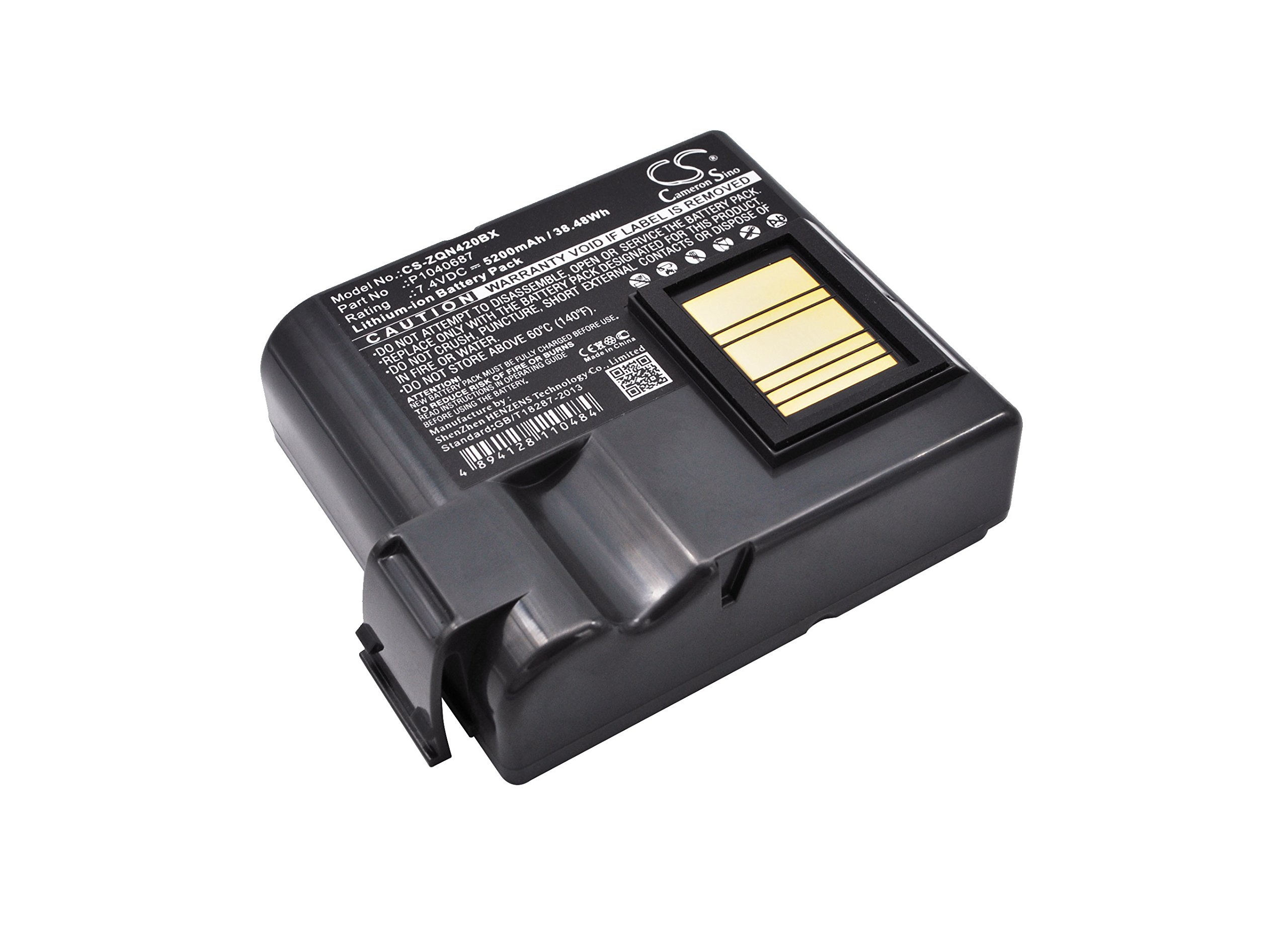 Replacement Battery for Zebra QLN420 P1040687 P1050667-016 by Bomibattery