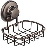 HASKO 配件 - *真空吸盘肥皂盒 - 强力不锈钢海绵支架,适用于浴室和厨房(青铜)