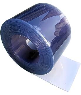 Tira Flexible de PVC transparente para puerta/cortina - 400 mm de ancho x 4 mm de grosor - 10 m de: Amazon.es: Bricolaje y herramientas