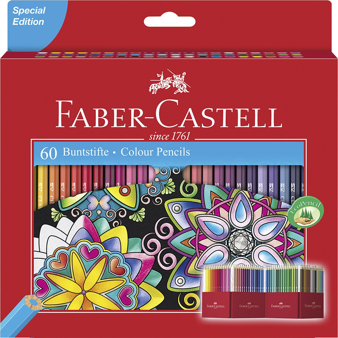 Faber Castell Estuche soporte de cartón con lápices de colores multicolor