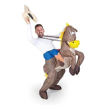fa46977c21 Inflatable Costumes Paul Lamond Games - Disfraz de cowboy con caballo  hinchable para adultos  Amazon.es  Juguetes y juegos