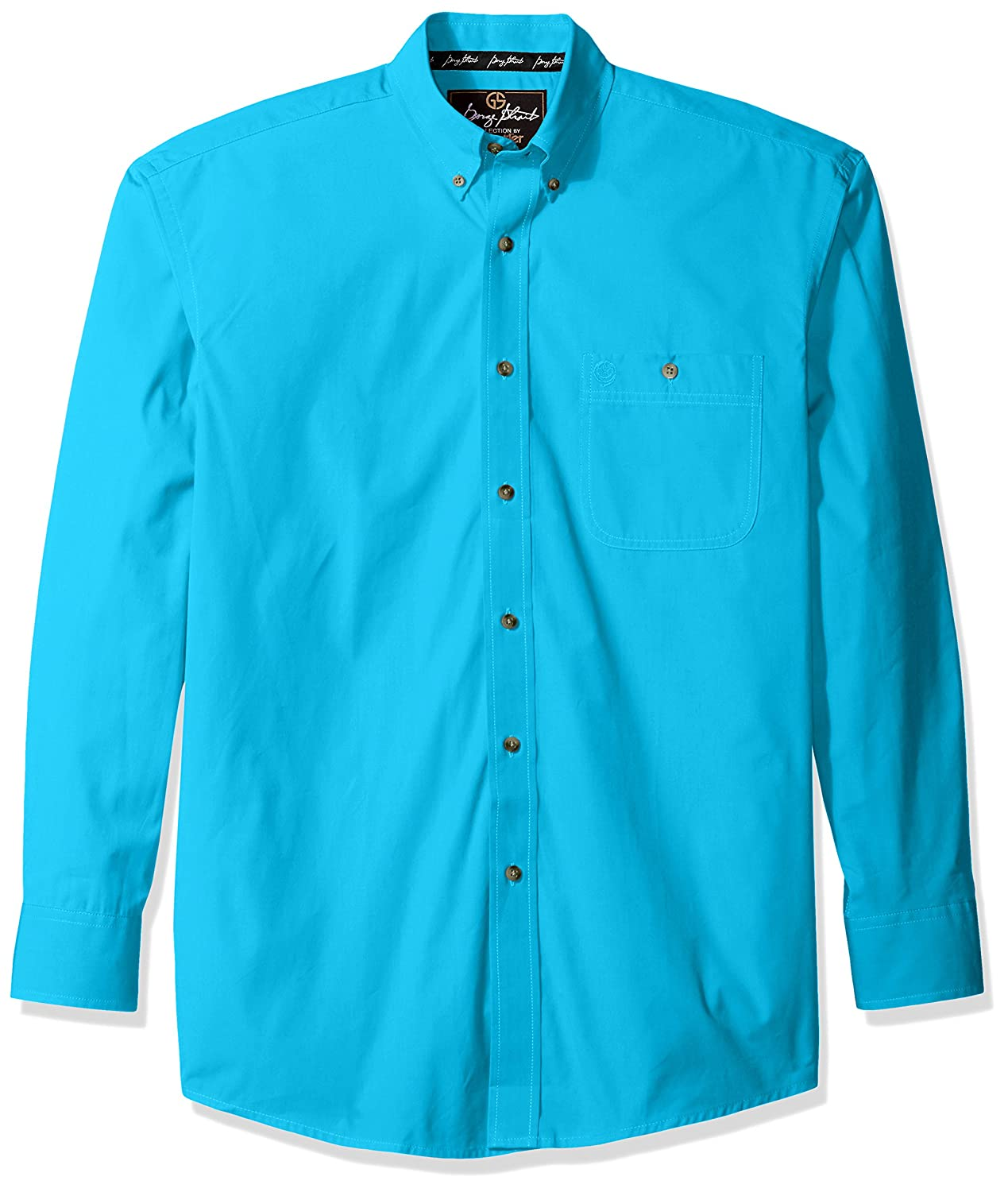Wrangler Mens George Strait One Pocket Button Long Sleeve Woven Shirt