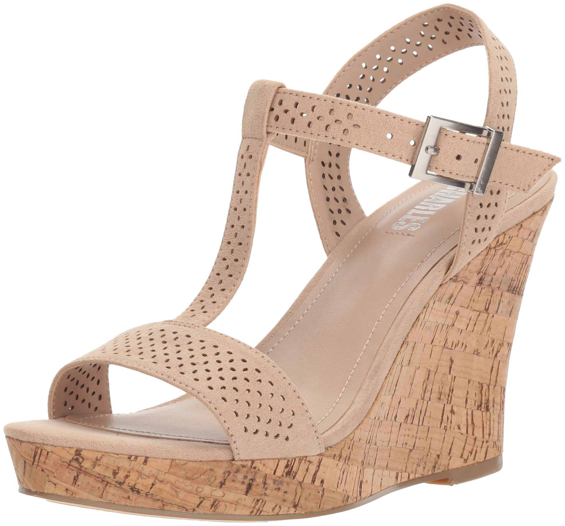 Style by Charles David Women's Link Wedge Sandal, Nude, 8.5 M US