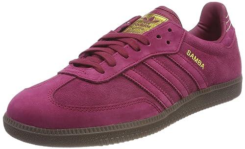 Adidas Samba FB, Zapatillas de Deporte para Hombre, Rojo (Rubmis/Rubmis/Dormet 000), 46 2/3 EU