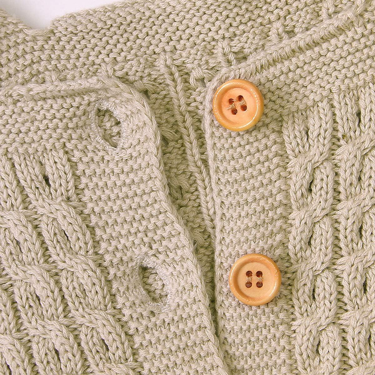 Haokaini Unisexe b/éb/é tricot/é sans Manches Barboteuse Nouveau-n/é Bodysuit Salopette v/êtements