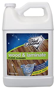 Wood & Laminate Floor Cleaner: For Hardwood, Real, Natural & Engineered Flooring, Biodegradable Safe for Cleaning All Floors. By Black Diamond Stoneworks