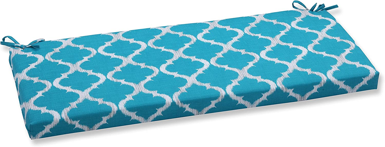 Pillow Perfect Outdoor/Indoor Kobette Bench Cushion, Teal