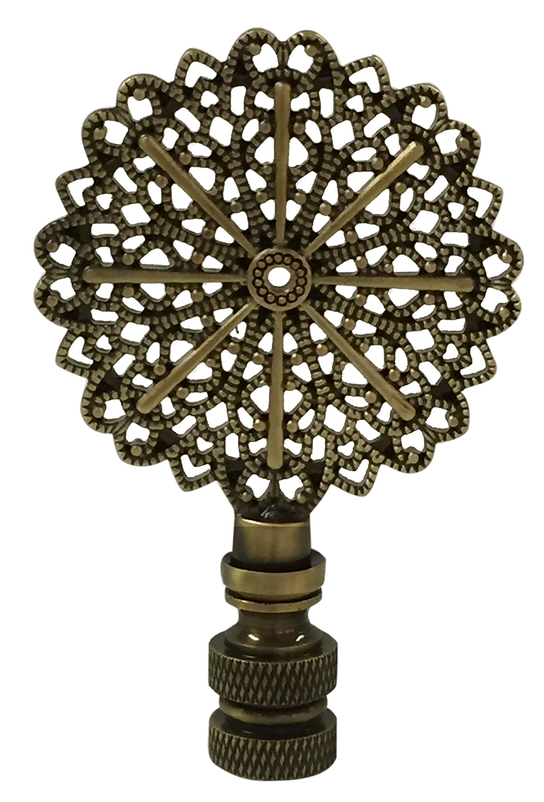 Royal Designs Traditional European Filigree Lamp Finial for Lamp Shade- Antique Brass by Royal Designs, Inc