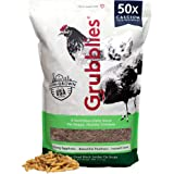 Grubblies Original USA & CA – Natural Grubs for Chickens - Chicken Feed Supplement with 50x Calcium, Healthier Than Mealworms