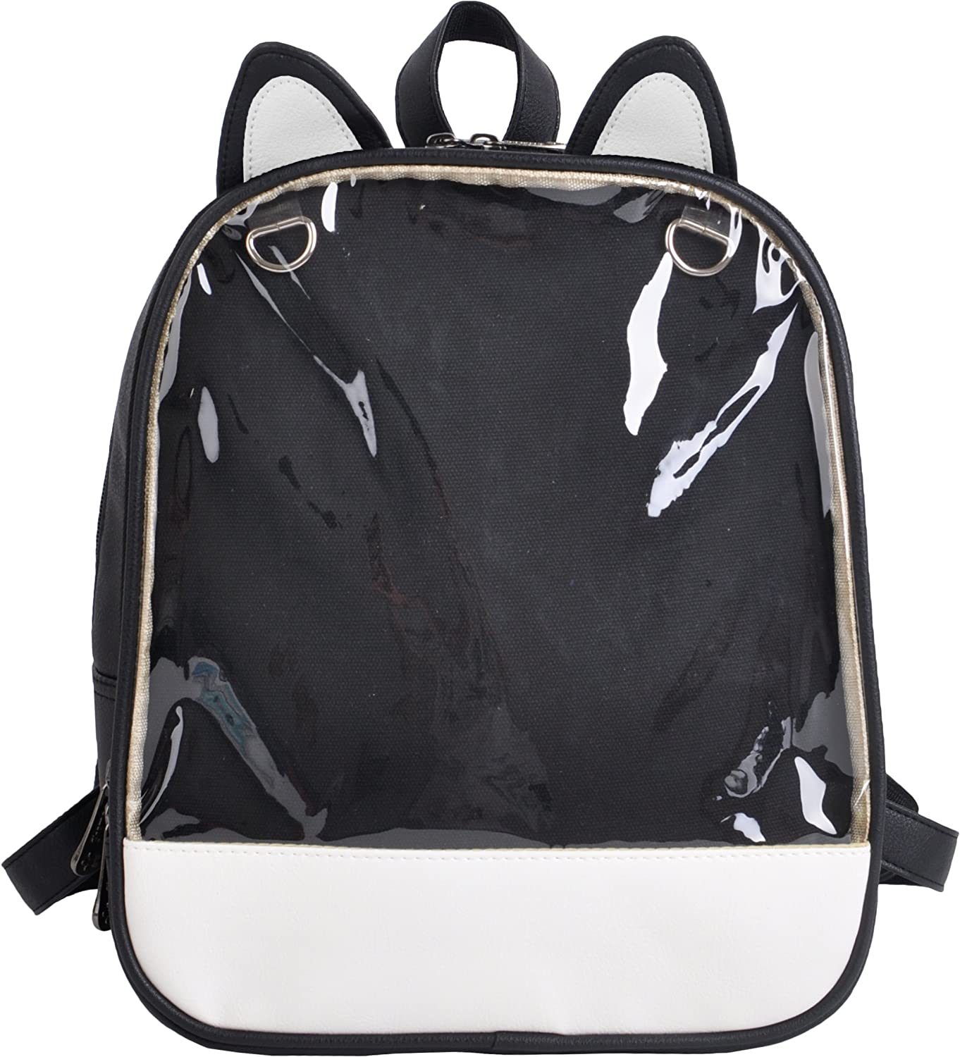 LunaCatz 'Ita-Bag' Backpack with Cat Ears and Transparent Front Pocket