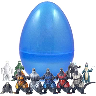 10 Godzilla Figurines Inside 8 Inch Easter Egg: Toys & Games