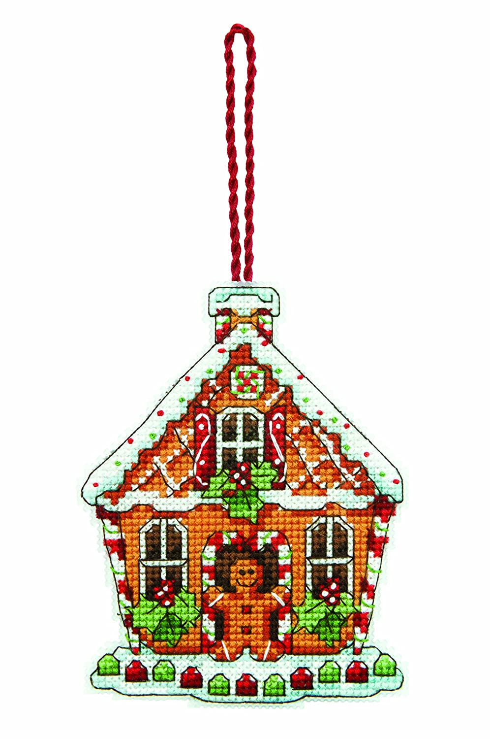 Dimensions Counted X Stitch-Gingerbread House, White 70-08917