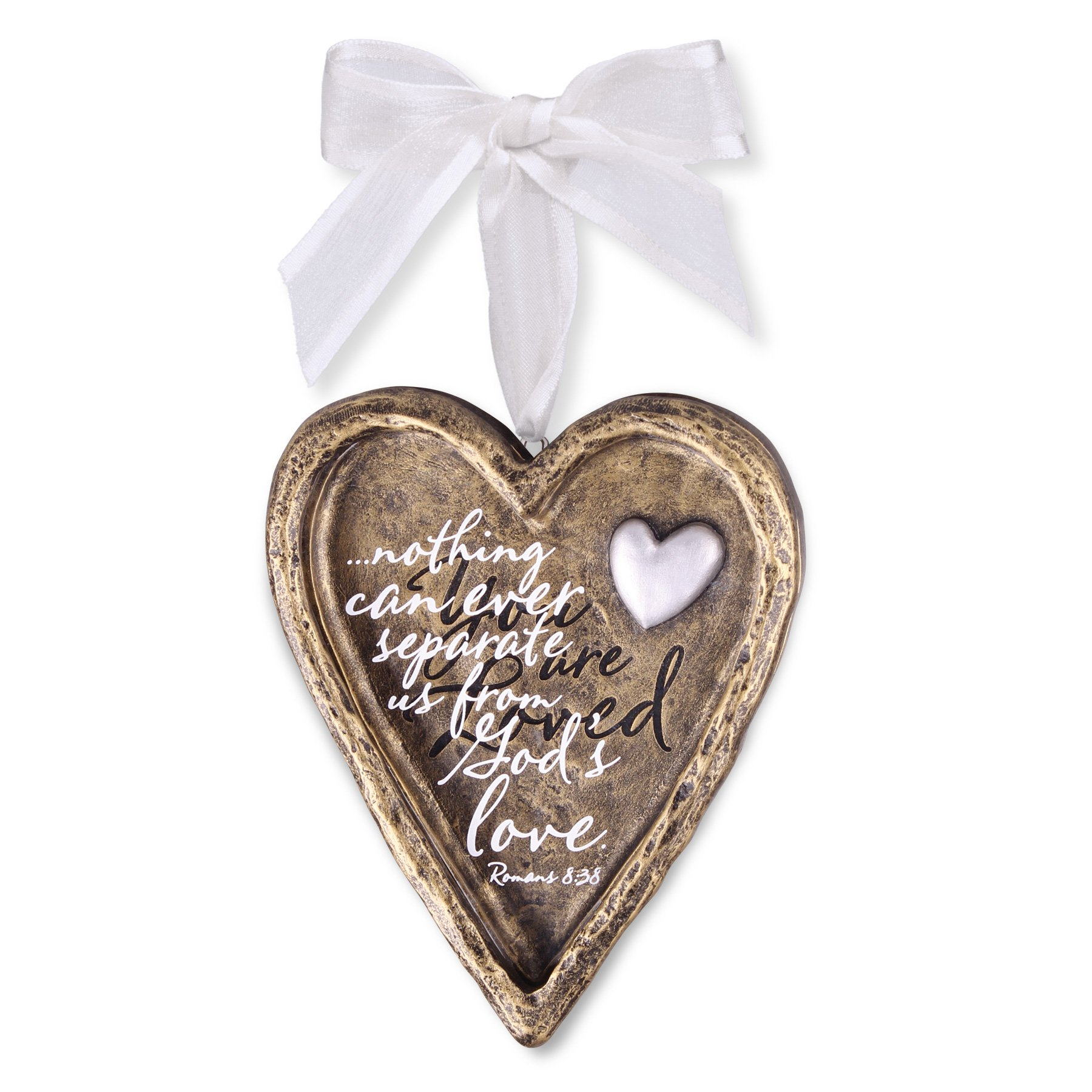 Lighthouse Christian Products You are Loved Resin Heart Christmas Ornament