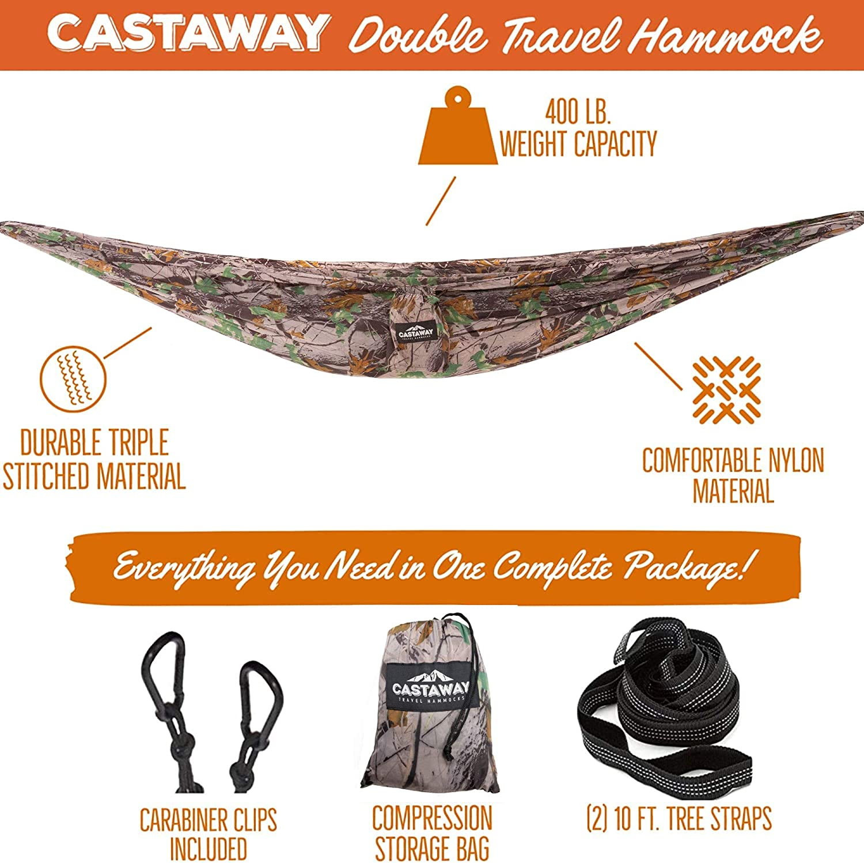 Castaway Travel Hammocks Double Travel Hammock Red White and Navy