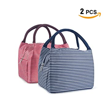Lunch Bag Insulated Lunch Box SKY CASTLE 2PCS Mini Tote Lunch Organizer  Diaper Bag Handbag Large 8f6932e830df3