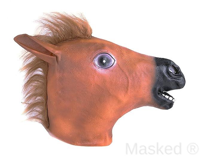 Enmascarado® Halloween Máscara de caballo para adultos