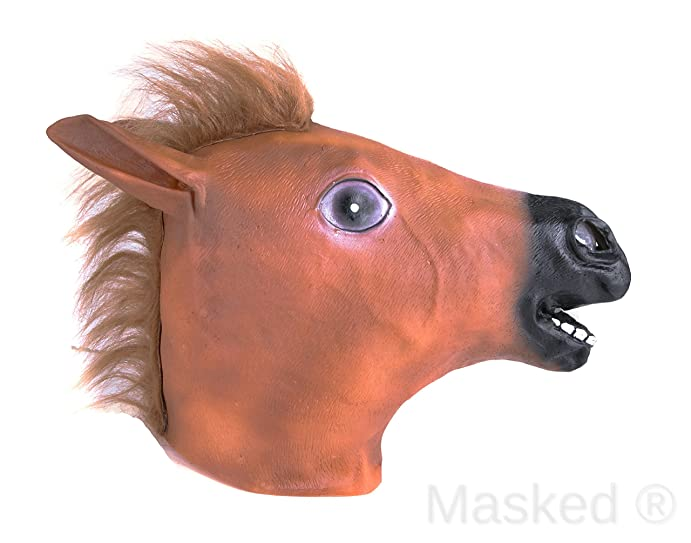 masked halloween adult horse mask