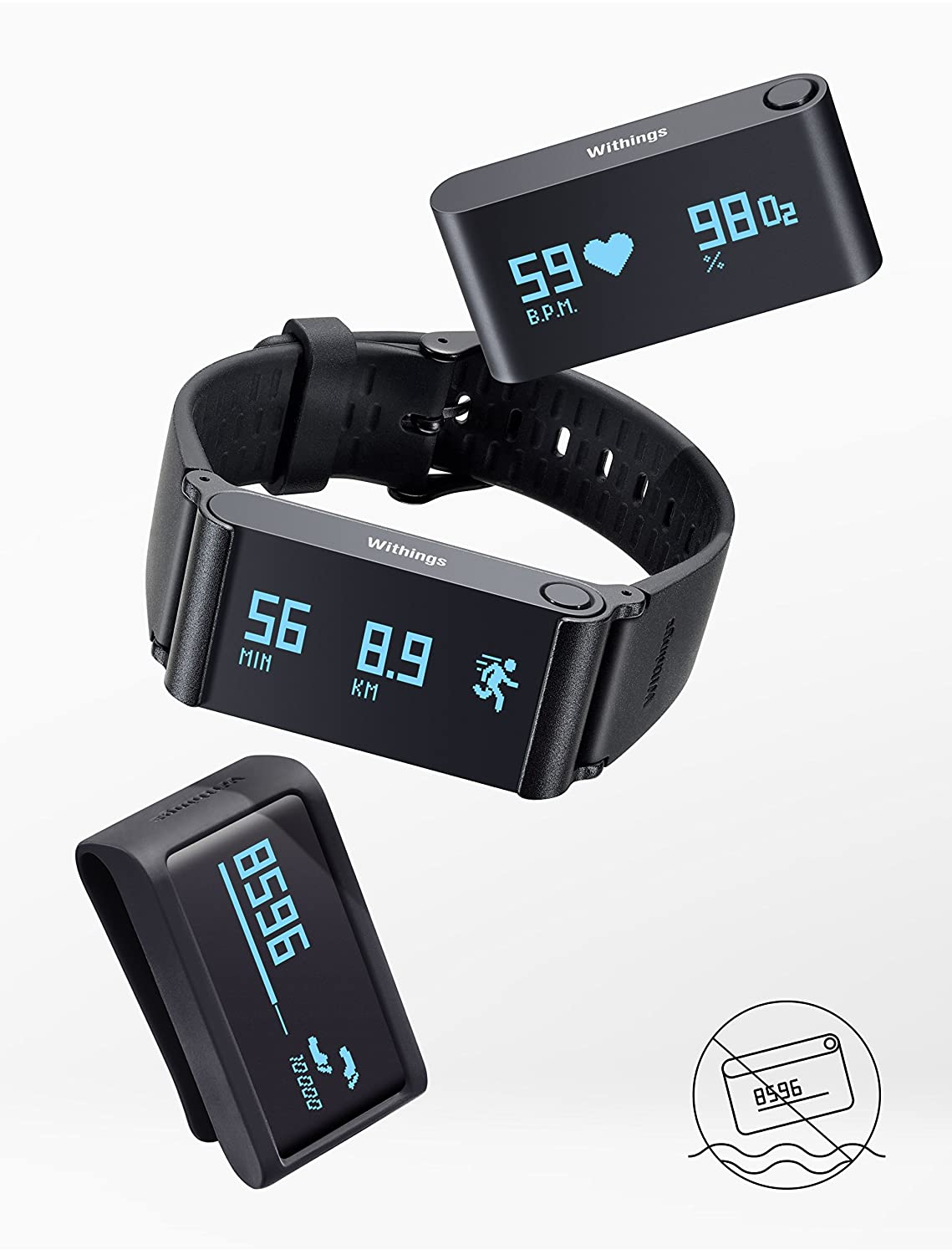 Amazon Withings Pulse O2 Activity Sleep And Heart Rate SPO2 Tracker For IOS Android Black Sports Outdoors
