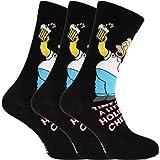 Herren Socken mit weihnachtlichem Simpsons-Motiv, 3 Paar